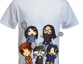 #17 for Design a T-Shirt for Parody Avengers, Badminton, Chibi style by mukundrathi2905