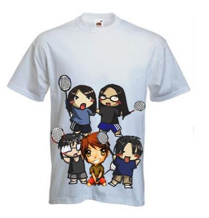 Proposition n°                                        19                                      du concours                                         Design a T-Shirt for Parody Avengers, Badminton, Chibi style