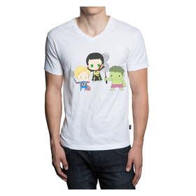 Nro 2 kilpailuun Design a T-Shirt for Parody Avengers, Badminton, Chibi style käyttäjältä squirrel1811