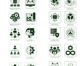 #25 for 2 sets of 4 icons needed. Digital Computing Cybersecurity Domain. af Grabarvl
