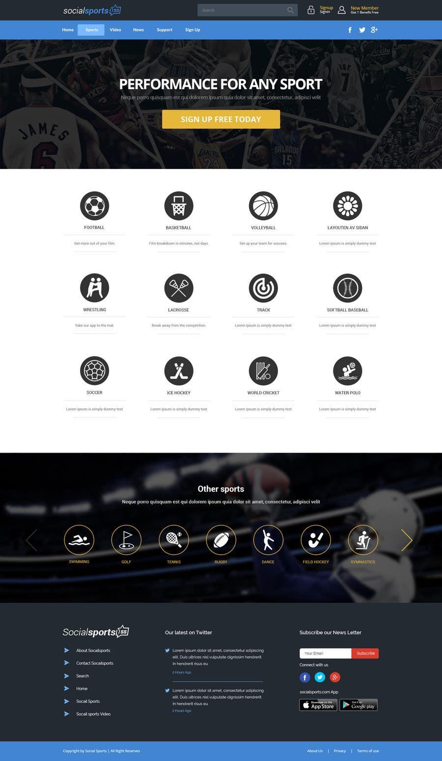Konkurrenceindlæg #                                        19                                      for                                         Design a Website for Sports Skills Video Uploading Site