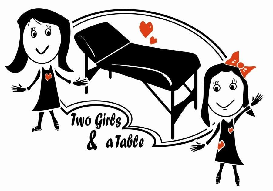 Penyertaan Peraduan #24 untuk Design a Logo for Two Girls and a Table