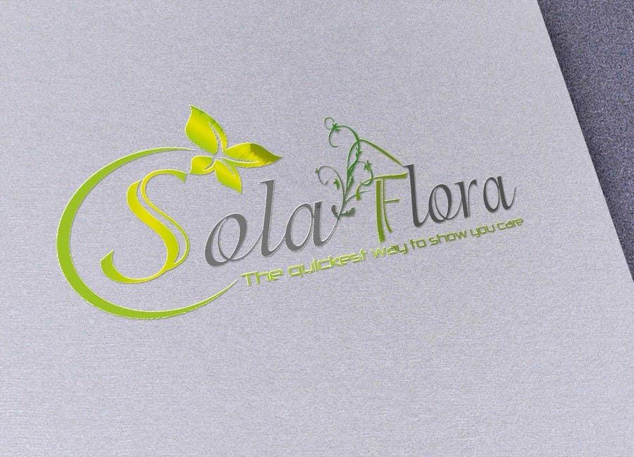 Konkurrenceindlæg #                                        112                                      for                                         Design a Logo for flower shop called sola flora