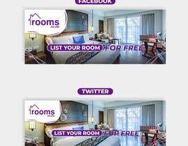 #148 untuk Rooms Facebook, Twitter Banner oleh CaturDesign67