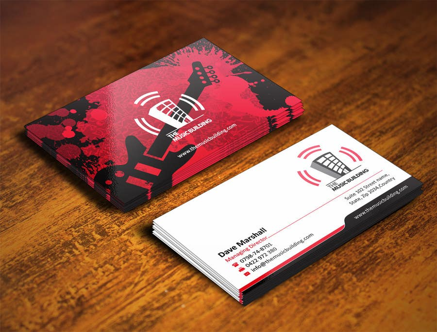 Contest Entry #                                        70                                      for                                         Design some Business Cards for The Music Building