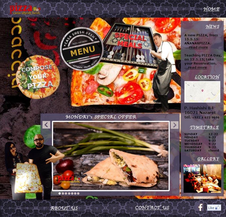 Proposition n°                                        15                                      du concours                                         Design a Website Mockup for a pizzeria restaurant