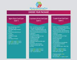 nº 1 pour Need this package pricing table turned into a professional looking and printable document par asdesigner247