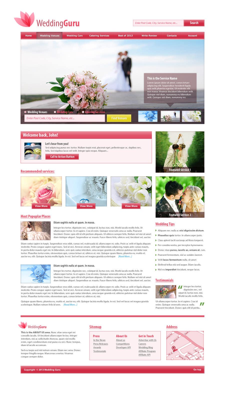 Contest Entry #21 for Website Design for Wedding Guru