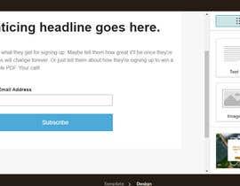 #14 untuk Build me a mail chimp opt in landing page oleh RainbowVivid