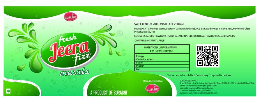 Konkurrenceindlæg #22 for Redesigning of label for beverage