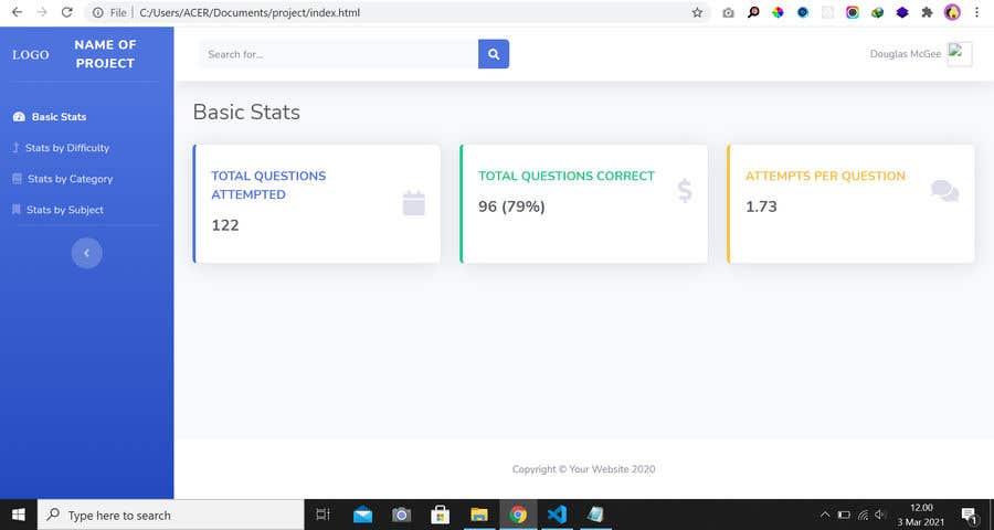 Kilpailutyö #                                        22                                      kilpailussa                                         Design & Code a HTML Dashboard (JavaScript, etc)