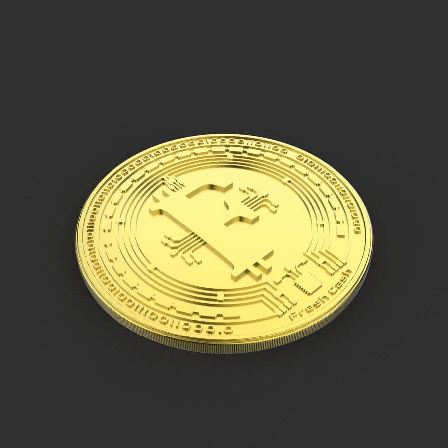 Kilpailutyö #                                        135                                      kilpailussa                                         I need a logo design for an cryptocurrency similar to Bitcoin in 2D and 3D