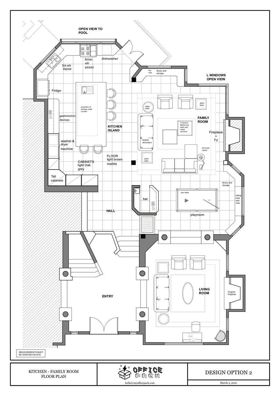 Konkurrenceindlæg #                                        37                                      for                                         Floor plan Redesign