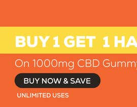 #57 for Banner for Buy 1 Get 1 Half Off  Sale on CBD Gummies by petersamajay