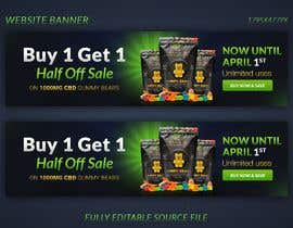 #184 for Banner for Buy 1 Get 1 Half Off  Sale on CBD Gummies by naymulhasan670