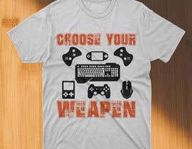 #109 untuk Gaming T-Shirt's oleh asifhassansabbir