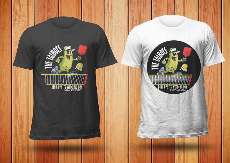"Intrarea #                                        65                                      pentru concursul ""                                        Pickle Ball Wedding T Shirt Logo                                     """