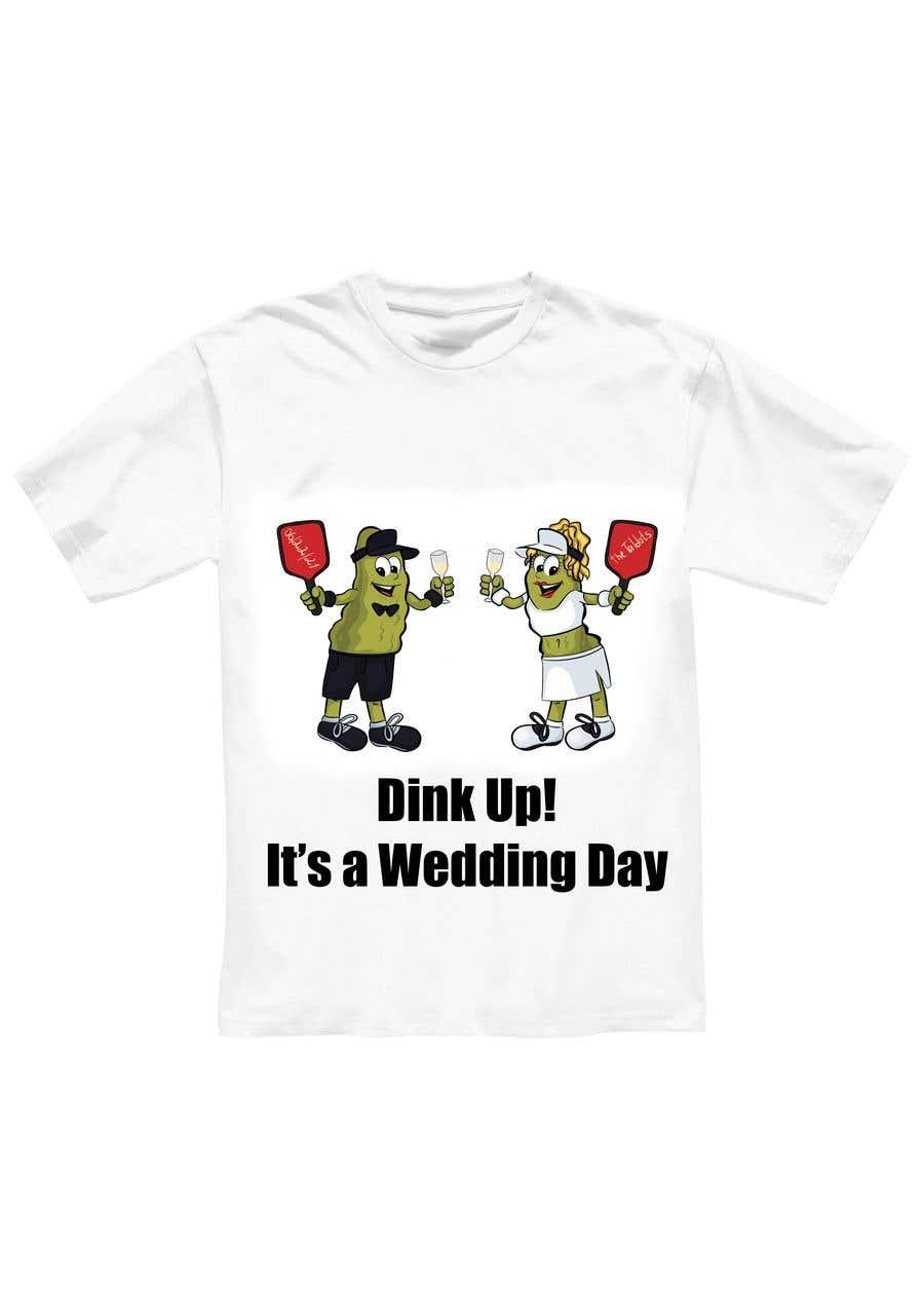 "Intrarea #                                        51                                      pentru concursul ""                                        Pickle Ball Wedding T Shirt Logo                                     """