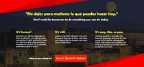 Copywriting Contest Entry #3 for Online Spanish Course - Landing Page