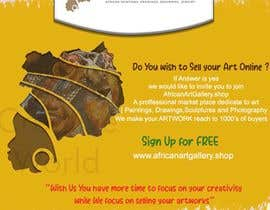 #6 for design a banner of an art gallery inviting artist to advertise on the marketplace af mycreativeworld1