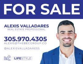 #6 untuk Alexis Valladares - FOR SALE Sign oleh Rakibrabby