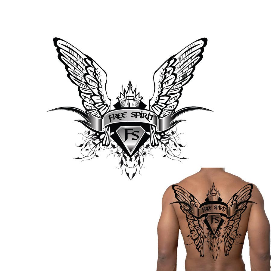 free spirit tattoo design freelancer. Black Bedroom Furniture Sets. Home Design Ideas