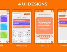 #7 for Create me a nice beautiful mockup design of a joke app by ghousqadeeri