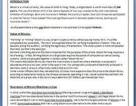Nro 26 kilpailuun Market Research BITCOIN käyttäjältä mayuridhote