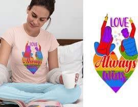 #137 для artistic T-shirt graphics, Love Always Wins от Bakhtiar13