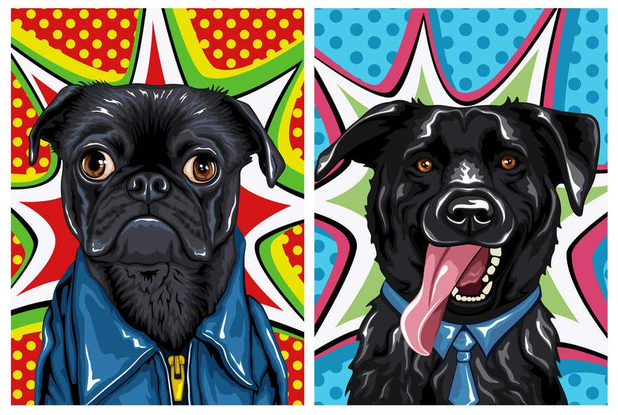 Bài tham dự cuộc thi #                                        53                                      cho                                         Need some fun stand out personal pet portrait template scenes.