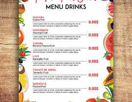 #28 para drinks menu for restaurant por imranislamanik