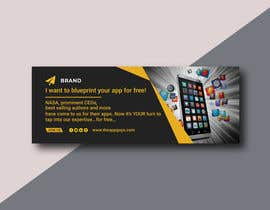 """#1 untuk A banner for my profiles that says """"I want to blueprint your app for free!"""". Make it interesting and clean. The final files must be sized for Facebook, LinkedIn and Twitter. Also include the company web address: theappguys.come oleh ShammyAktar66"""