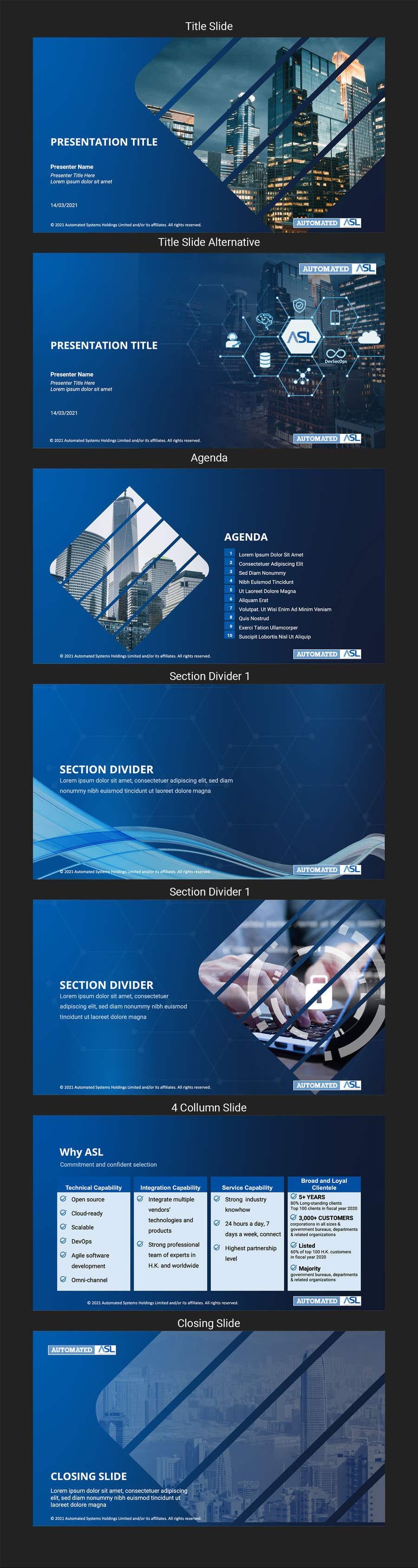 Bài tham dự cuộc thi #                                        34                                      cho                                         Corporate PPT Template Design (6 slides)