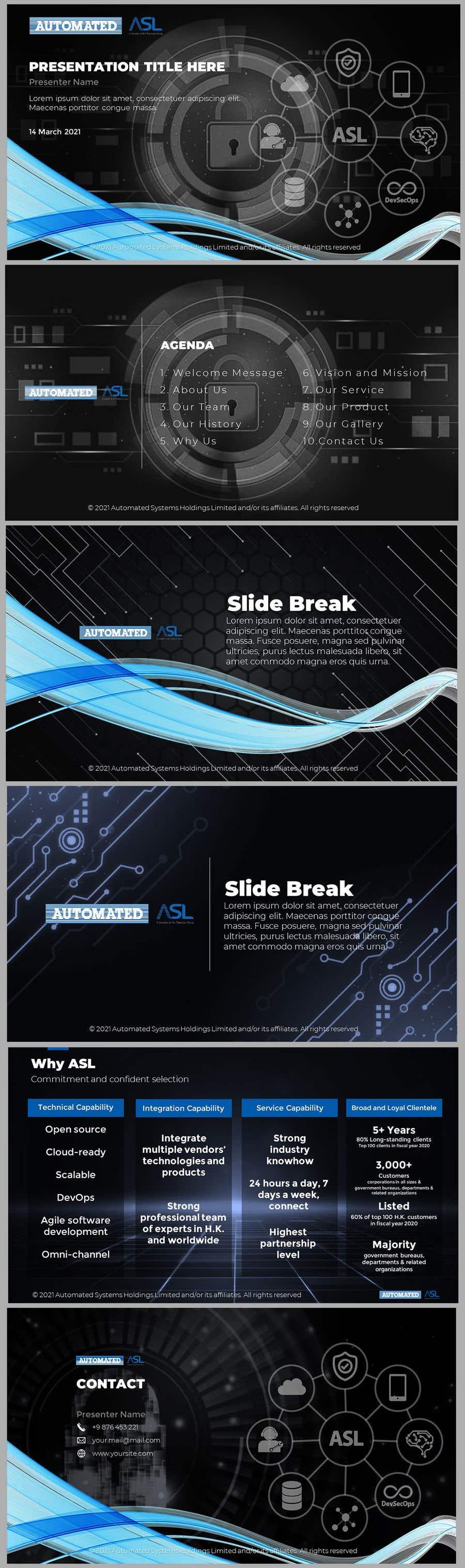 Bài tham dự cuộc thi #                                        44                                      cho                                         Corporate PPT Template Design (6 slides)