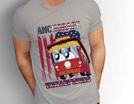 jakiamishu31022 tarafından T-shirt.design.American-Trolley-flag için no 74