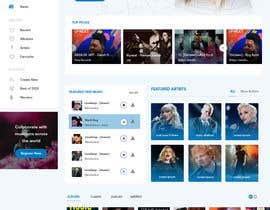 #118 cho Home Page redesign for Music Website bởi techiesways
