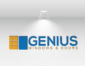 #82 untuk I need logo and business card design my company name genius windows & doors I need it in photoshop file that I will edit later I need some design that will be green and money savings with the genius idea or any new windows design oleh halema01