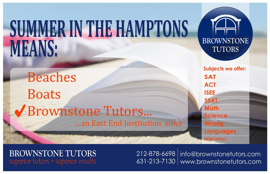 #23 for Advertisement Design for Brownstone Tutors by rpaarquitectura