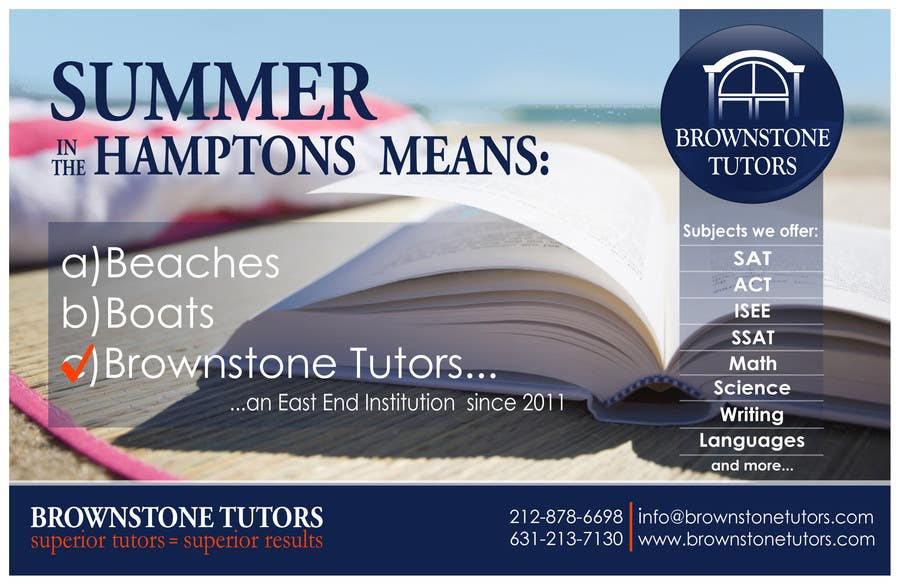 Bài tham dự cuộc thi #32 cho Advertisement Design for Brownstone Tutors