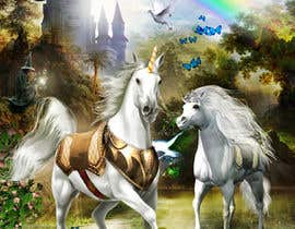 #39 for Illustrate Something for Unicorn Kingdom cover af dienel96