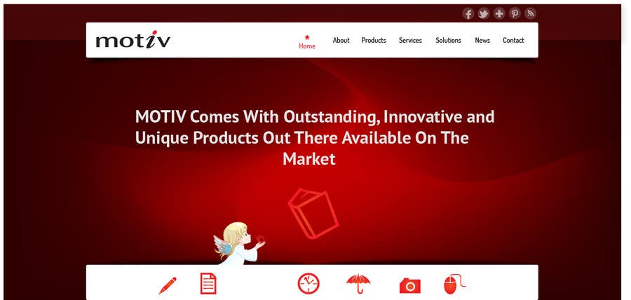 Kilpailutyö #15 kilpailussa Website Design scheme/home page for Motiv