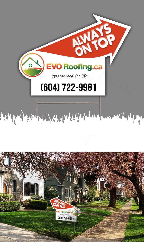 Penyertaan Peraduan #                                        10                                      untuk                                         Lawn sign for Roofing company