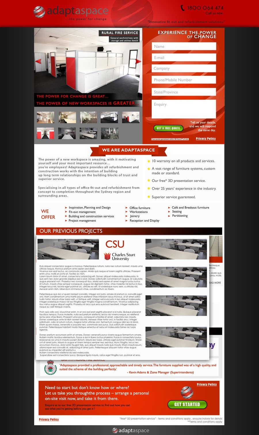 Konkurrenceindlæg #                                        18                                      for                                         Graphic Design for Landing Page