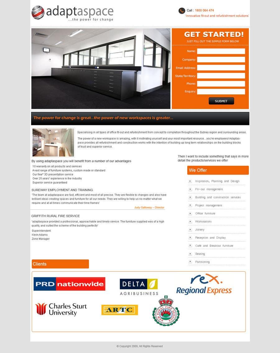 Konkurrenceindlæg #                                        2                                      for                                         Graphic Design for Landing Page