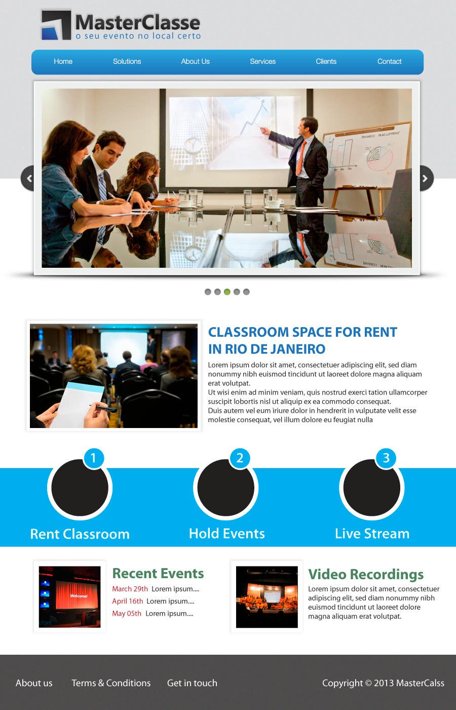 #8 for Wordpress Theme Design for MasterClasse by zedworks