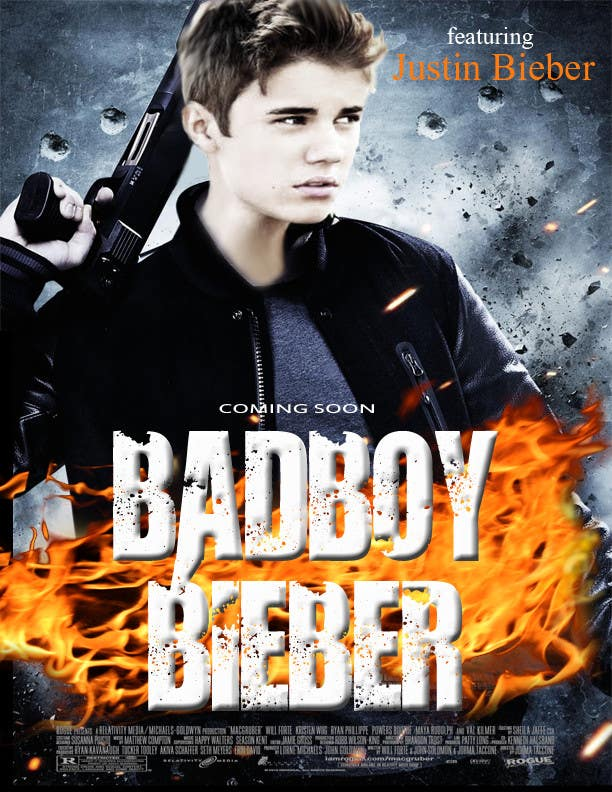 #171 for Design a poster for Gangster @JustinBieber, #BadBoyBieber! by RuxkyStudio