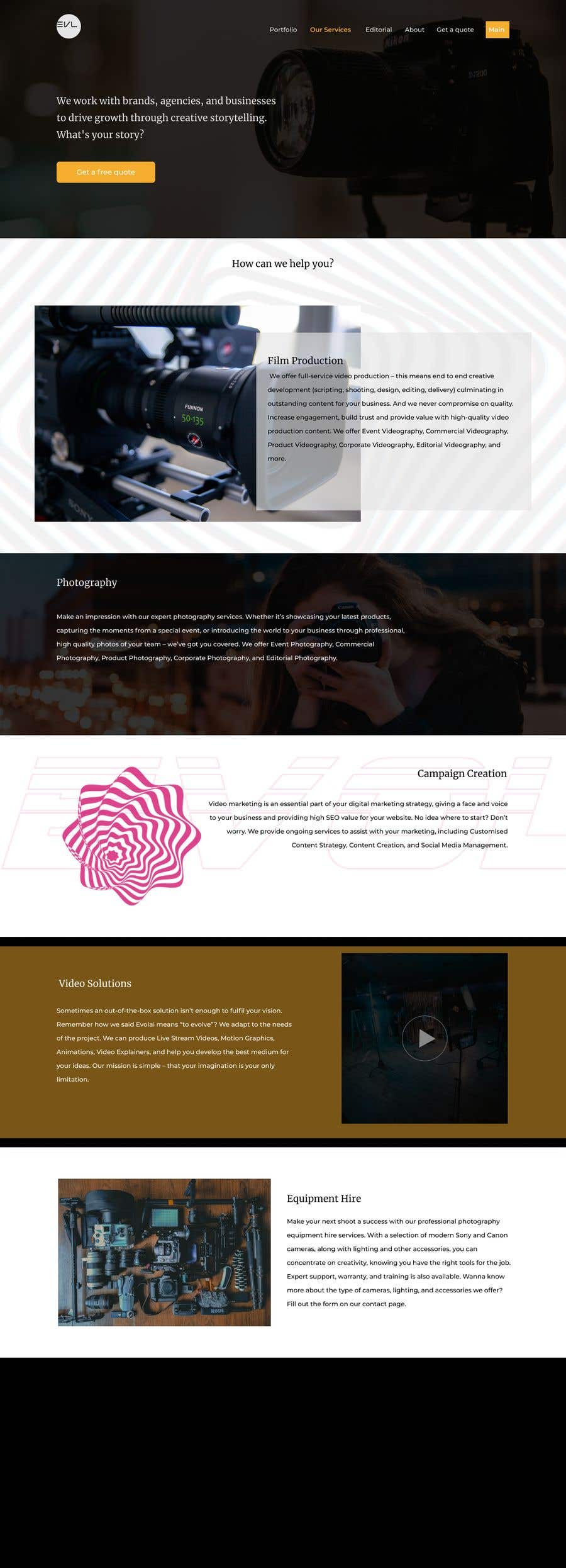 Contest Entry #                                        4                                      for                                         Web Page Design - redesign Services page for photography business