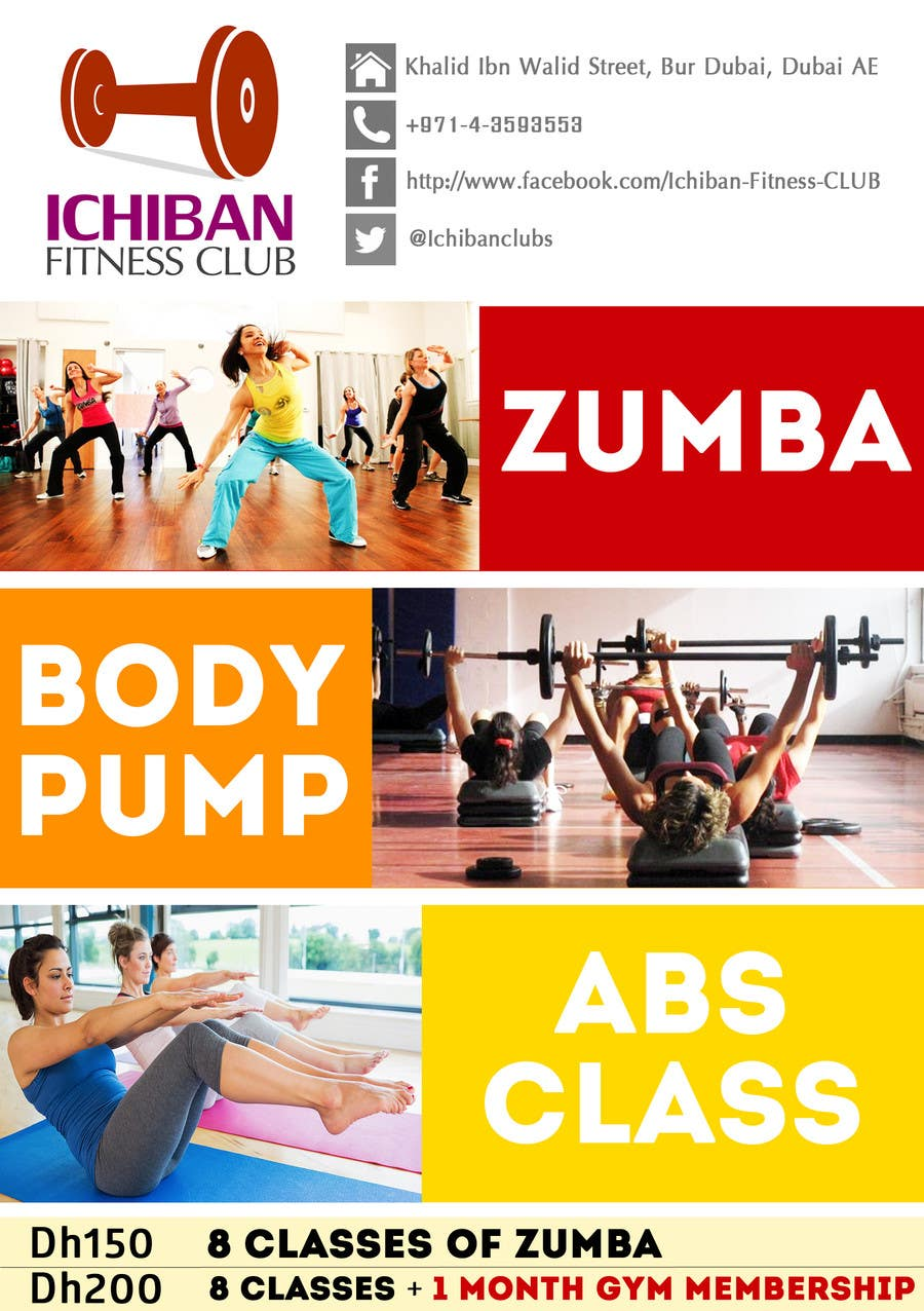 Konkurrenceindlæg #3 for Zumba Abs Body Pump A5 Flyer