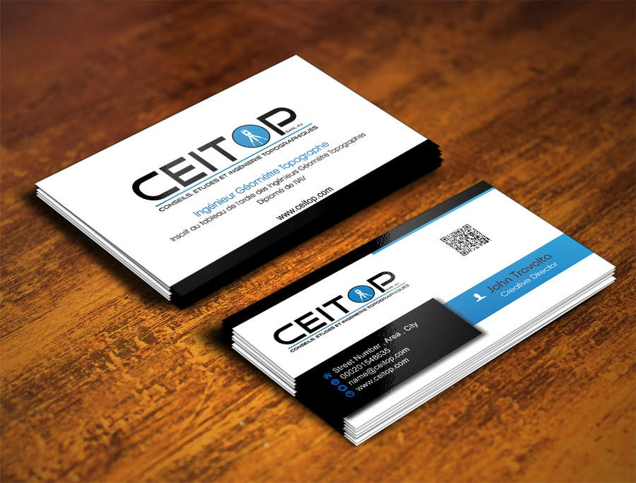 Entry #55 by IllusionG for Business Card Design for Surveying ...