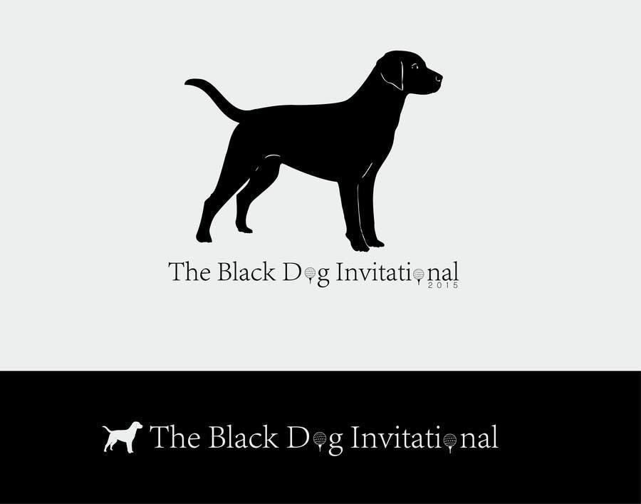 Kilpailutyö #41 kilpailussa Design a Logo for The Black Dog Invitational (golf tournament)